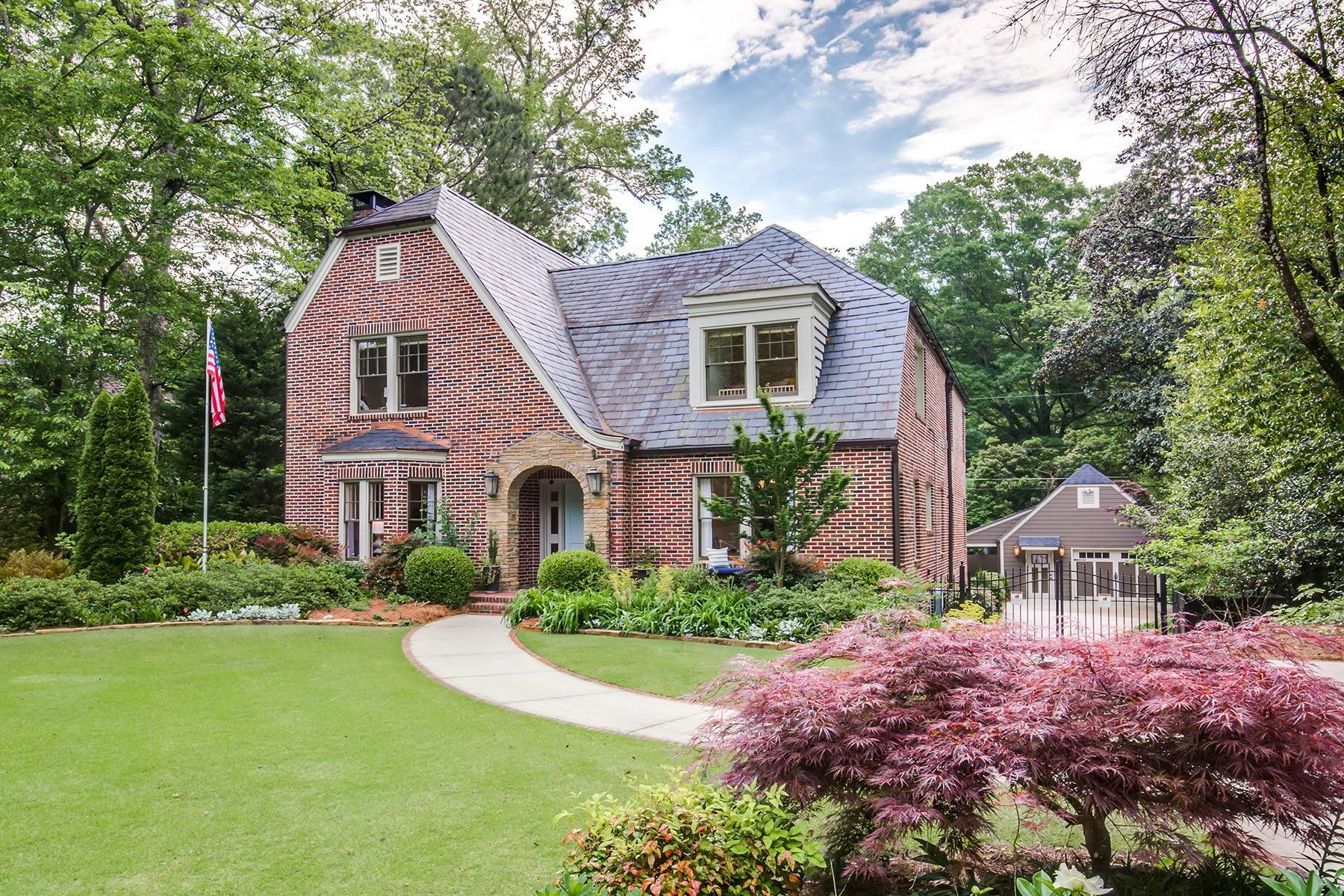 Single Family Homes for Sale at Enticing Synthesis Of 1929 Historic Character And Charm 1199 Oxford Road NE Atlanta, Georgia 30306 United States