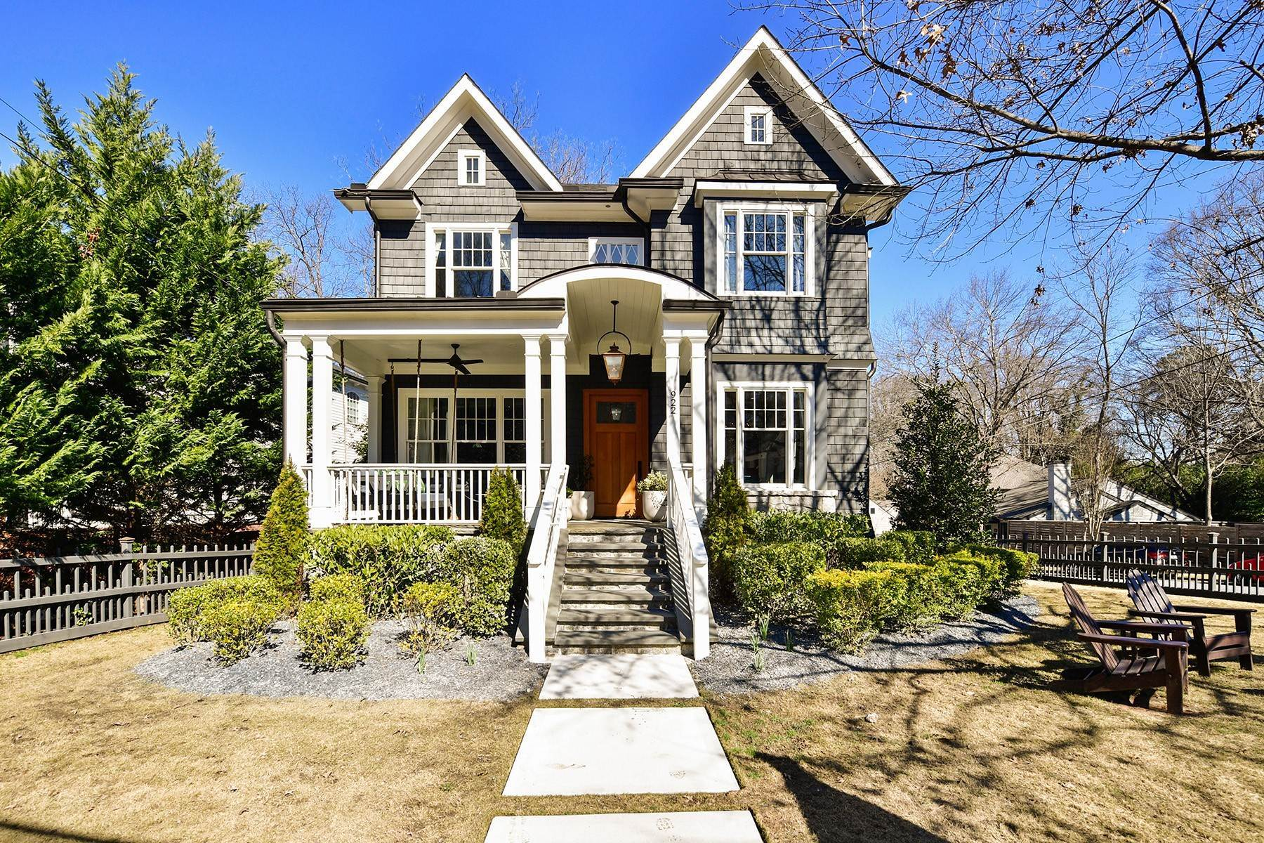 Single Family Homes for Sale at An Exceptional Home In An Ideal Morningside Location 922 Amsterdam Avenue Atlanta, Georgia 30306 United States
