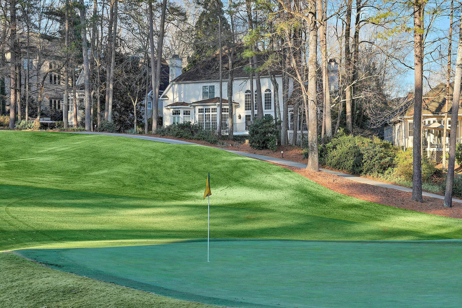 Single Family Homes for Sale at Manor Home With Breathtaking Golf Course Views 4275 Fairway Villas Drive Johns Creek, Georgia 30022 United States