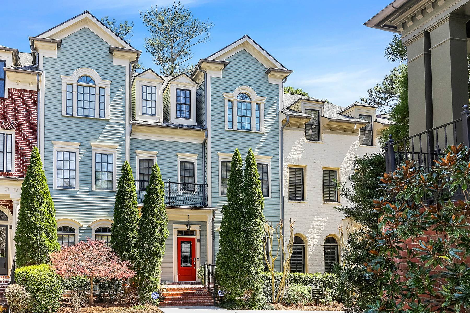 townhouses for Sale at Beautiful Charleston-Inspired Four-Level Townhome 3127 Lenox Road NE, No. 24 Atlanta, Georgia 30324 United States