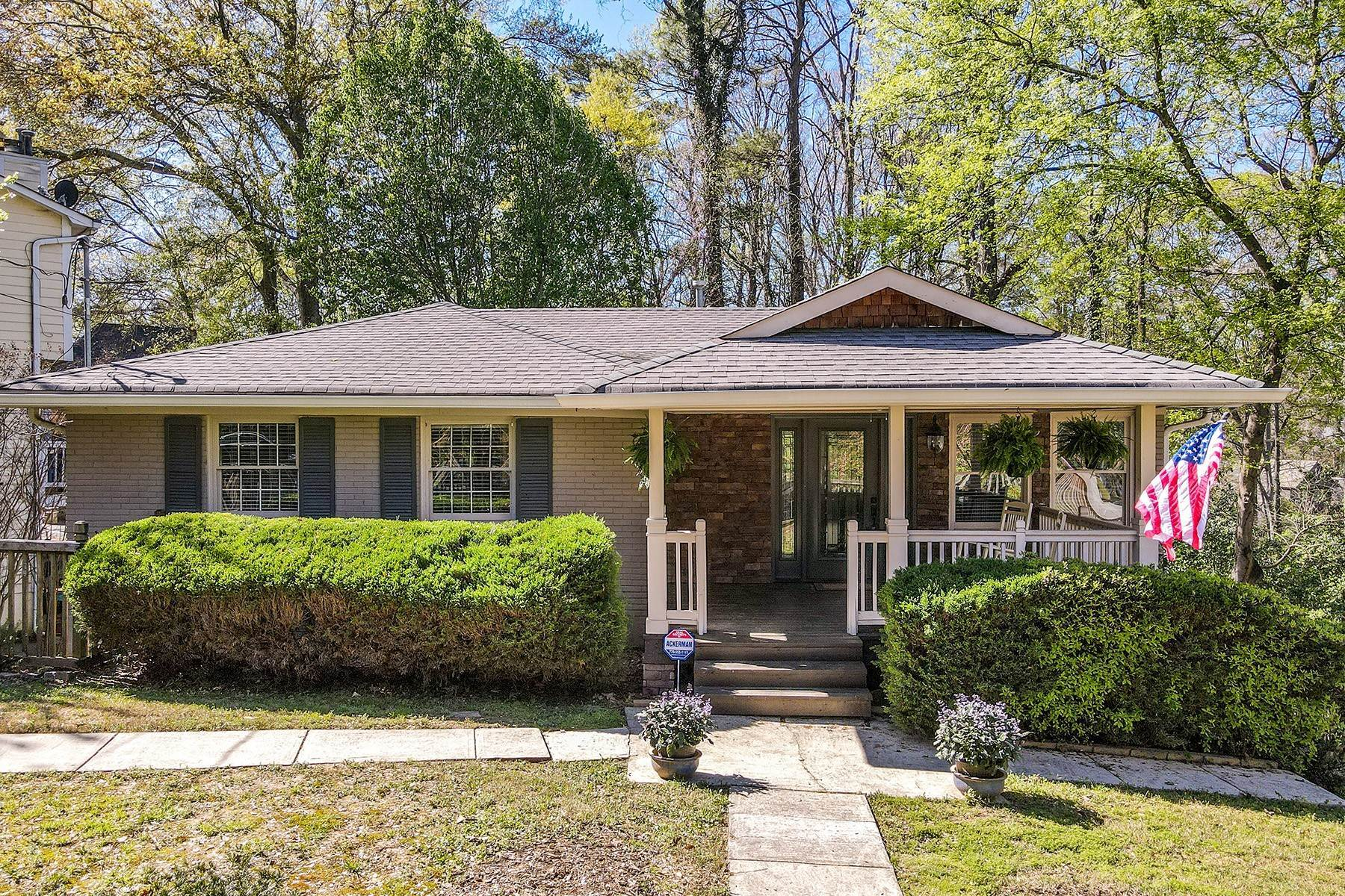 Single Family Homes for Sale at Charming Mid-Century Bungalow In Sought After Piedmont Heights 590 Montgomery Ferry Road NE Atlanta, Georgia 30324 United States