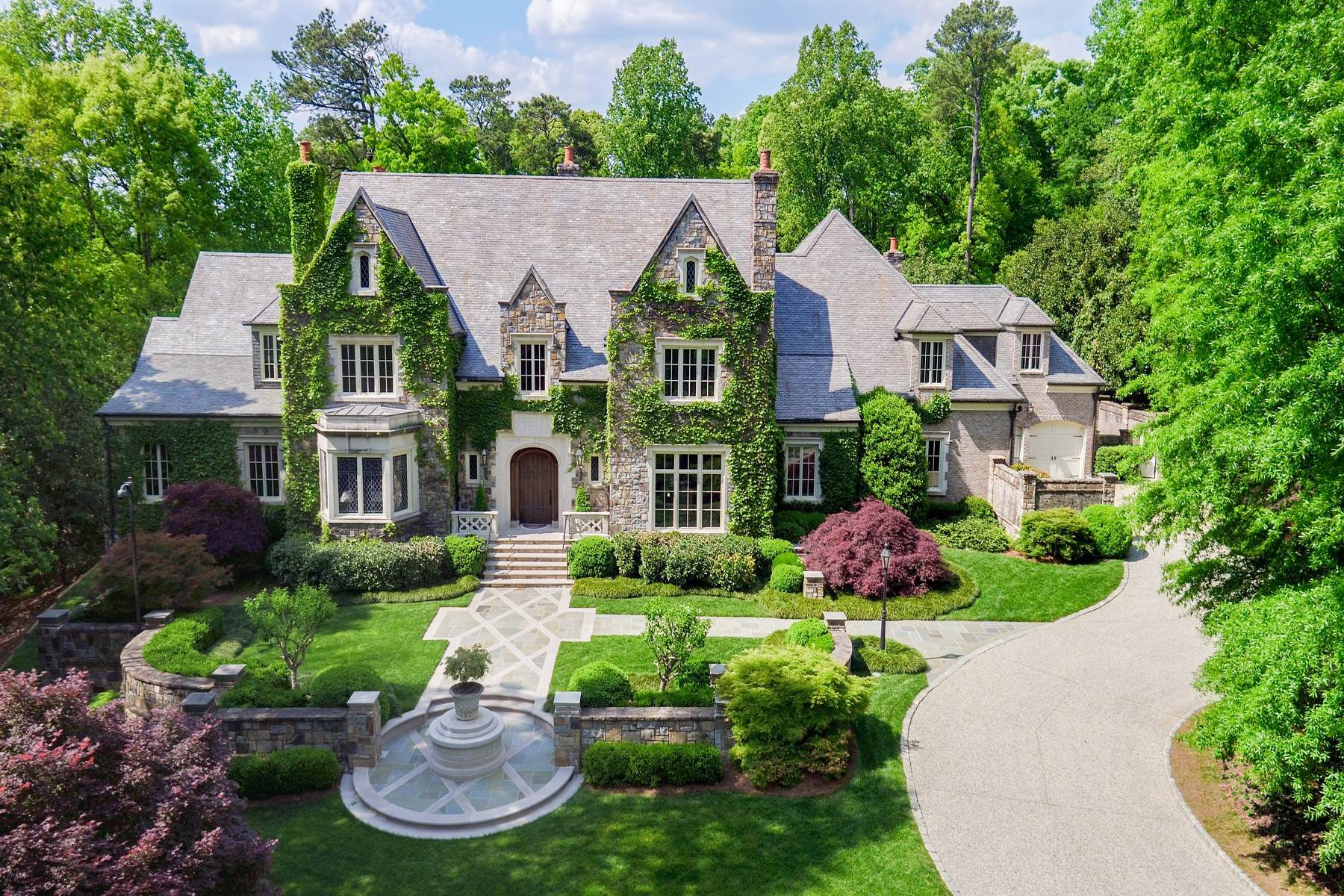Single Family Homes for Sale at Exquisite English Manor Estate on 3+/- Private Acres in Buckhead 3685 Paces Ferry Road Atlanta, Georgia 30327 United States