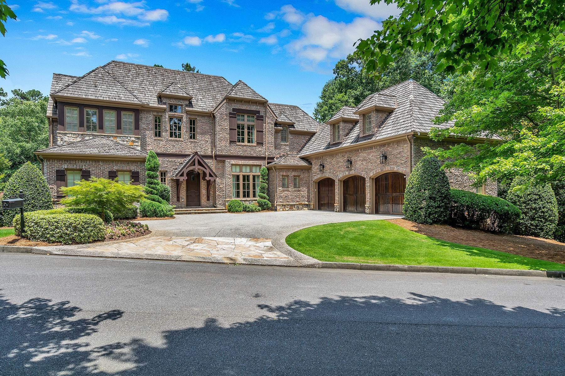 Single Family Homes for Sale at Your Private Sanctuary Awaits in Sought-After and Gated Community Citadella 350 Citadella Court Alpharetta, Georgia 30022 United States