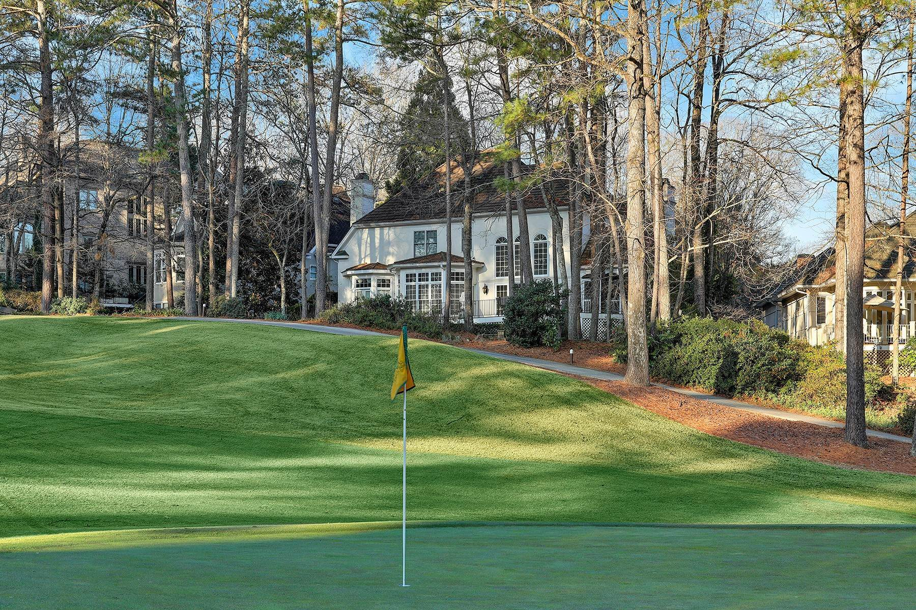 40. Single Family Homes for Sale at Manor Home With Breathtaking Golf Course Views 4275 Fairway Villas Drive Johns Creek, Georgia 30022 United States