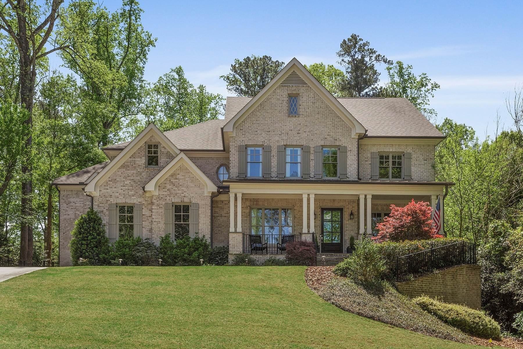 Single Family Homes for Sale at Exquisite Four-Sides Brick Hilltop Beauty Nestled On Over Half An Acre 369 Pinecrest Road NE Atlanta, Georgia 30342 United States