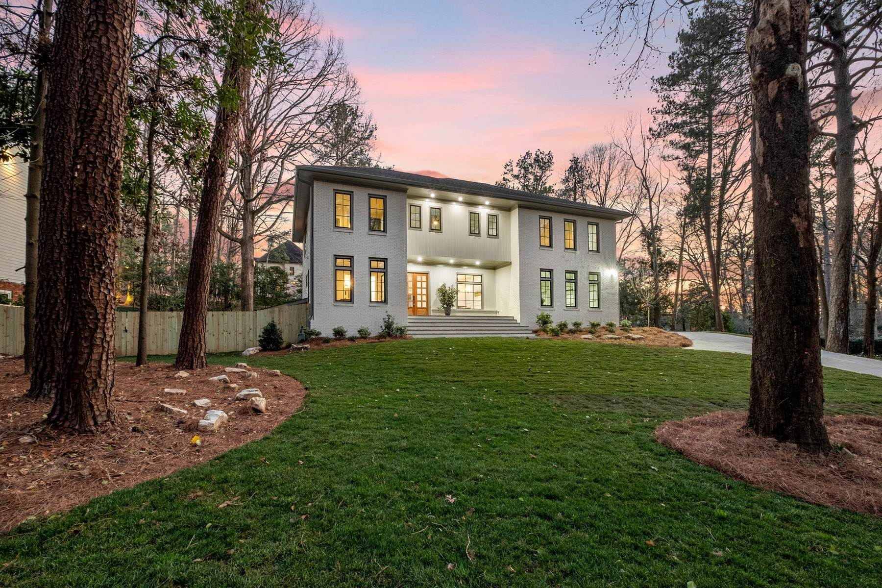 Single Family Homes for Sale at Sleek Modern Farmhouse in Heart of Buckhead 1580 W Wesley Road Atlanta, Georgia 30327 United States